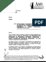 ASFI_177 - MODIFICACIONES AL REGLAMENTO PARA OPERACIONES DE MICROCRÉDITO DEBIDAMENTE GARANTIZADAS Y REGLAMENTO PARA OPERACIONES DE CREDITO AGROPECUARIO