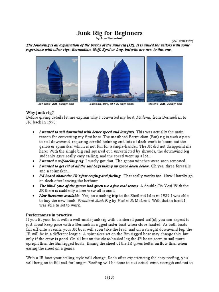 Junk Rig for Beginners | Sail | Sailboats