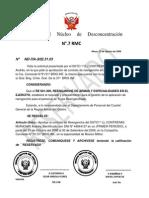 Resolución      del     Núcleo     de     Desconcentración ANDRES
