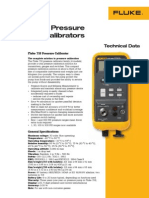 Fluke 717 and 718 Pressure Calibrator Datasheet