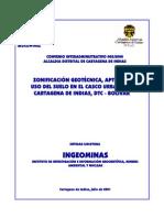 Informe Zonificación Cartagena INGEOMINAS 2001