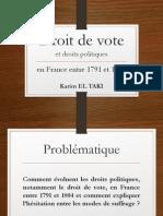Droit de vote en France