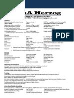 updated resume nina herzog performance