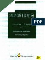 BACARISSE, Salvador - Concierto en La m Op72