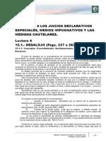 Módulo 4 - Lectura 4 - Los Juicios Declarativos Especiales. Medios Impugnativos Y Las Medidas Cautelares