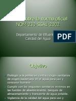 Plática sobre la norma oficial NOM-230-SSA1-2002 DECA