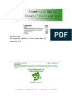 Aluminum Spray Cleaner Concentrate - 029