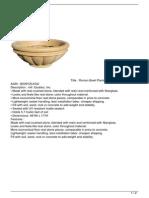 Roman Bowl Planter 46″ in Tan Promo Offer