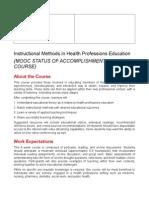 Instructional Methods Syllabus