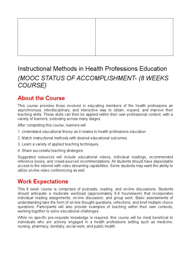 Instructional Methods Syllabus Educational Assessment Learning