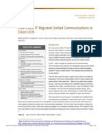 How Cisco IT Migrated Unified Communications to Cisco UCS