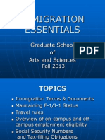 GSAS Immigration Essentials - International Students and Scholars Office