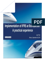 IFRS en Bombardier