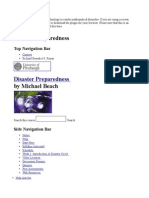 Disaster Preparedness Syllabus