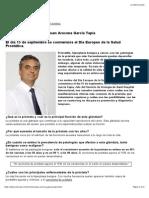 Próstata. Dr. Juan Arocena García Tapia. Dia Europeo de la Salud Prostática