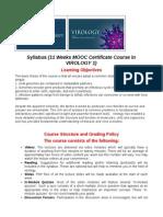 Virology Syllabus