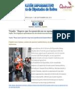 Diputados Bolivia - Boletin Informativo 11-9-2013