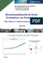 Desestacionalización de series