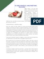 LA CATEQUESIS DEBE VENCER EL ANALFABETISMO RELIGIOSO.docx