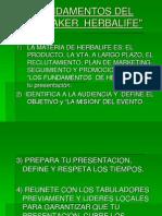 Fund a Mentos Del Speaker Herbalife