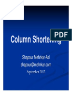Column Shortening-Compensation in Tall Buildings - Presentations