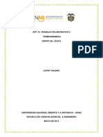 Act.10 Trabajo Colaborativo 2 Aporte FASE 1 PARTE 1 TERMODINAMICA