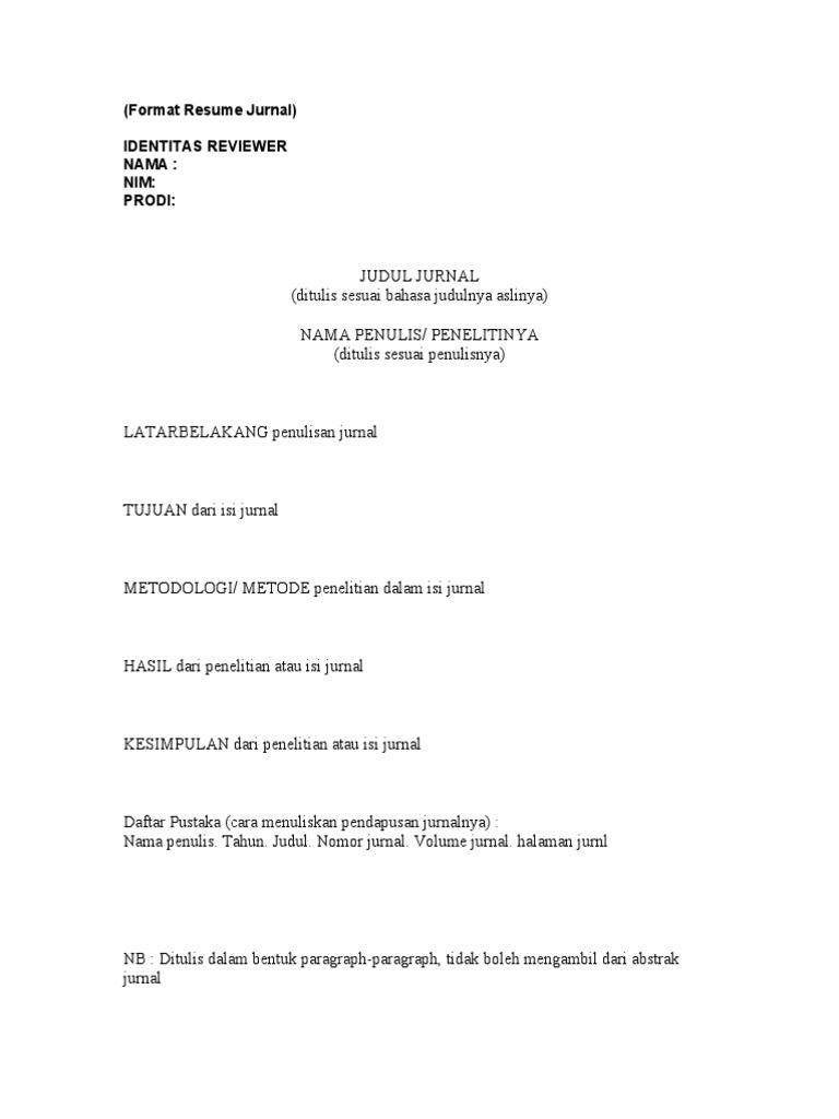 Format Resume Jurnal Doc