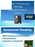 Approaches N Strategies of Democratic Teaching