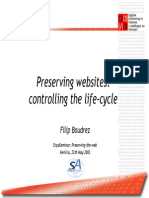 BOUDREZ - Preserving Websites Controlling the Life
