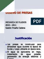 DISEÑO DE PRESAS FLUIDOS