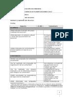 Lista de chequeo basico para la planificación