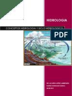 Conceptos de Un Inicio Del Ciclo Hidrologico