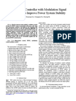 A Nonlinear Controller With Modulation Signal for HVDC to Improve Power System Stability