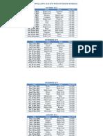 Toronto Maple Leafs 2013-2014 Regular Season Schedule