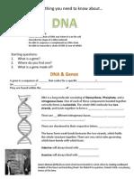 Dna - Worksheet