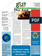 Gist Weekly Issue 30 - The End