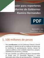 Dossier Para Reporteros Primer Informe de Gobierno