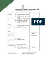 HKUST Academic Calendar