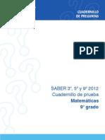 Matematicas 9 2012