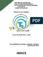 PROYECTO ESCOLAR 2013 - 2014 (1)