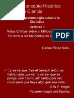Sobre un concepto histórico de Ciencia, Carlos Pérez Soto