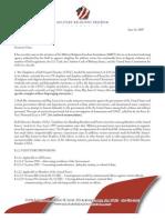 DoD Letter and Addendum