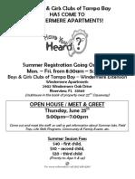 Winder Mere Summer Registration Flyer