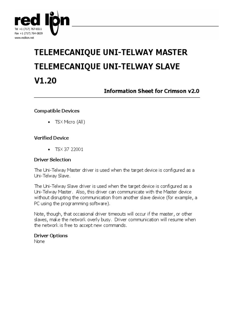 unitelway driver for windows 7