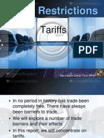 International Economics- Tariffs