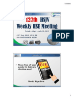 127th HSJV Weekly Meeting