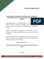 Boletin de Prensa 009-2013 Cde Pri Oaxaca