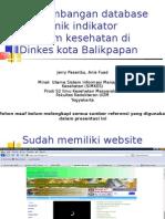 Database Elektronik Indikator Program Kesehatan Di Dinkes Balikpapan