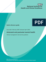 Antenatal and Postnatal Mental Health Quick Reference Guide