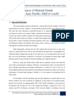 The Performance of Fund Managers in Asia Pacific